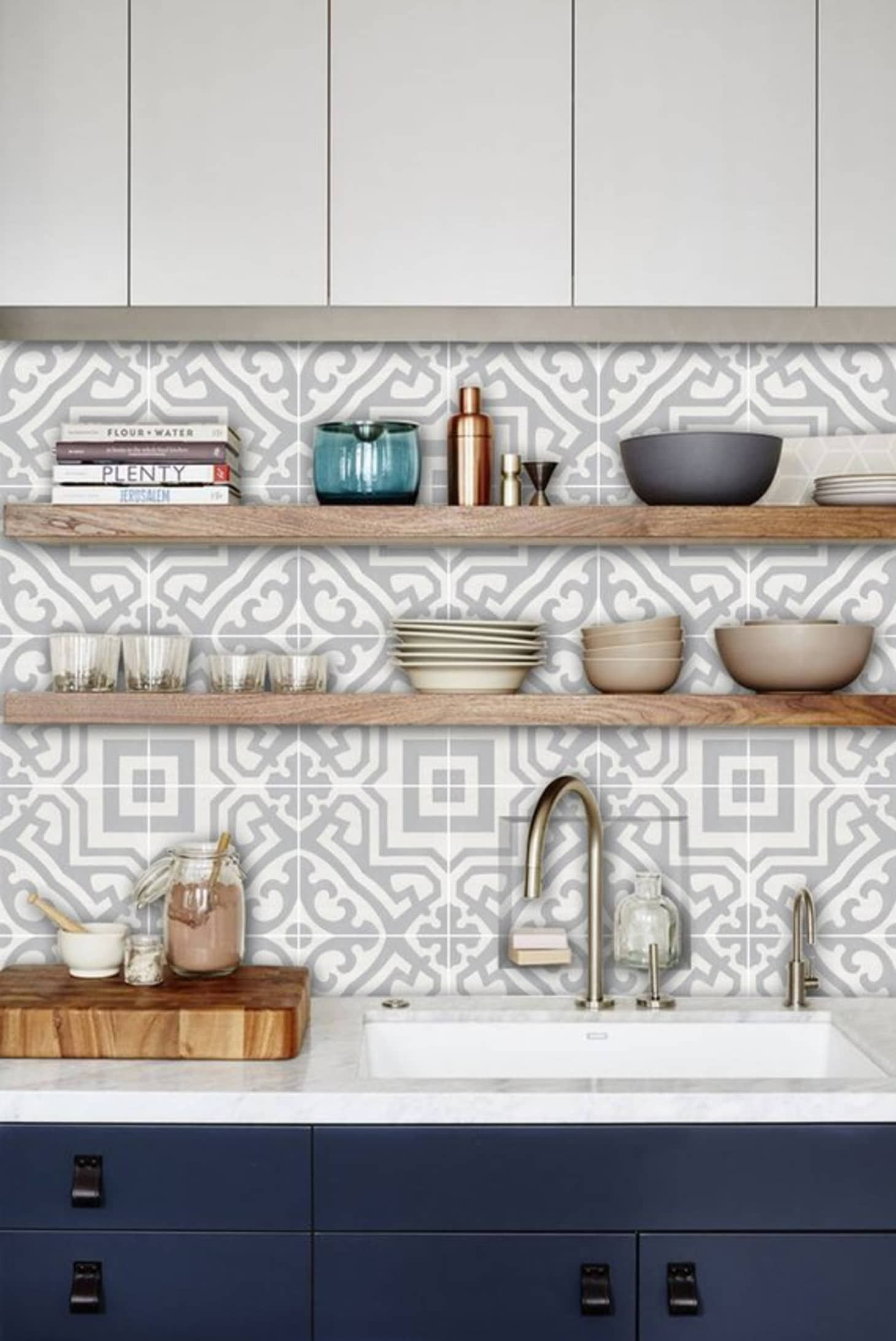 Kitchen And Bathroom Splashback Removable Vinyl Wallpaper Alba