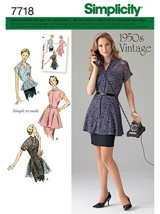 7718 env front | Kldg Vintage 50er | Pinterest | 50er und Vintage