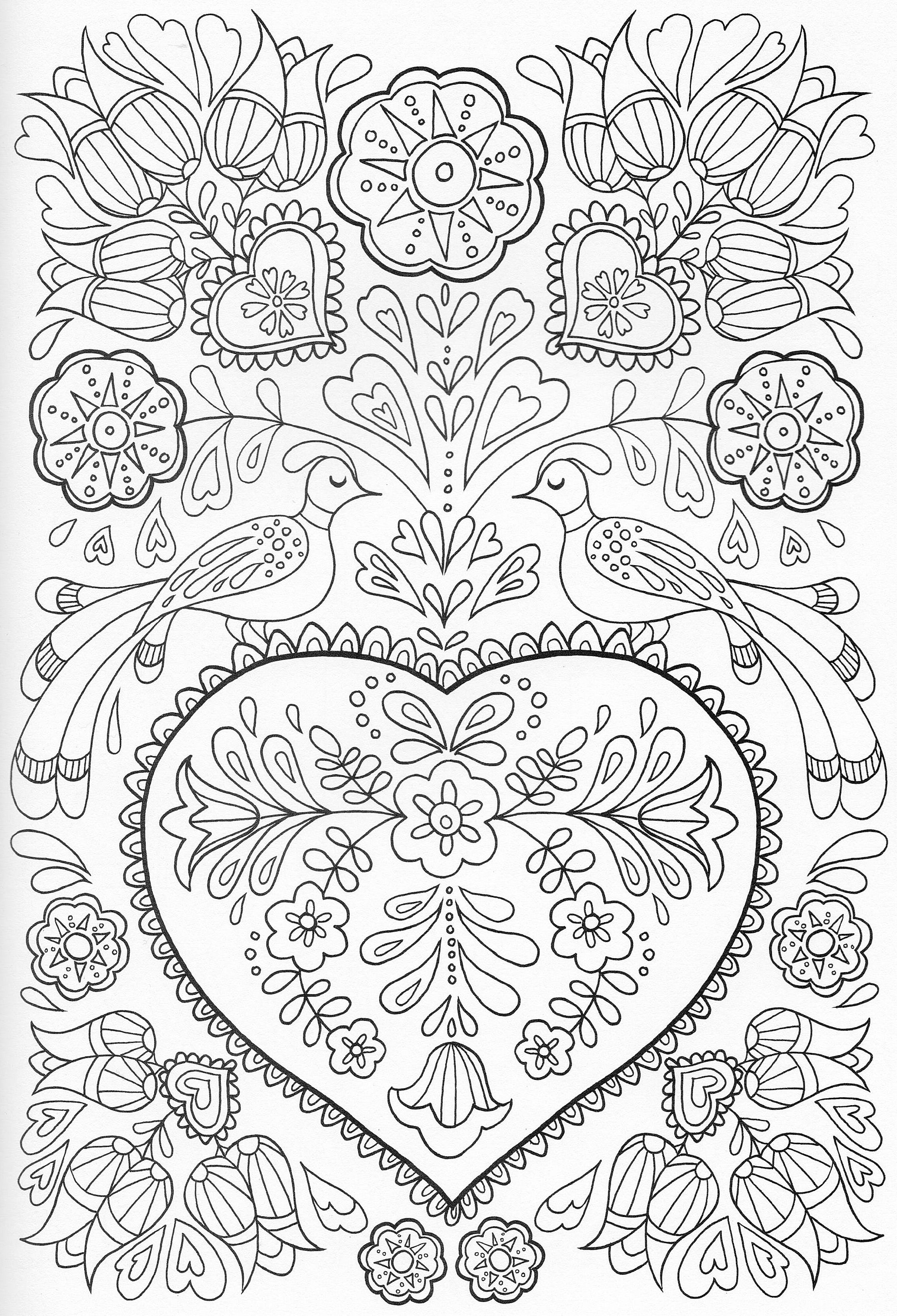 Scandinavian Coloring Book Pg 41 | Color pages, Stencils ...