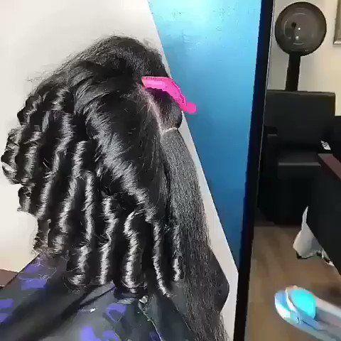 عناية وجمال On Twitter طريقة لف الشعر بإستخدام جهاز السيراميك Hair Styles Human Hair Wigs Natural Hair Styles
