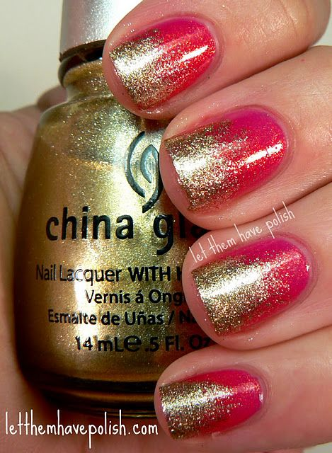 Pink and Gold Glitter