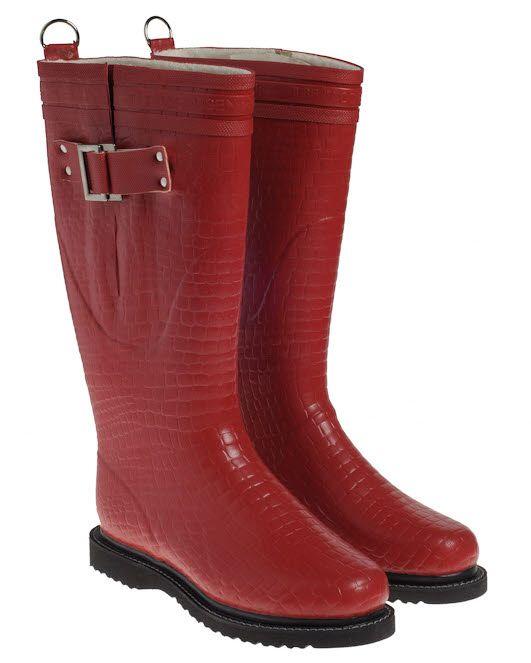 Ilse Jacobsen laarzen croco - rood