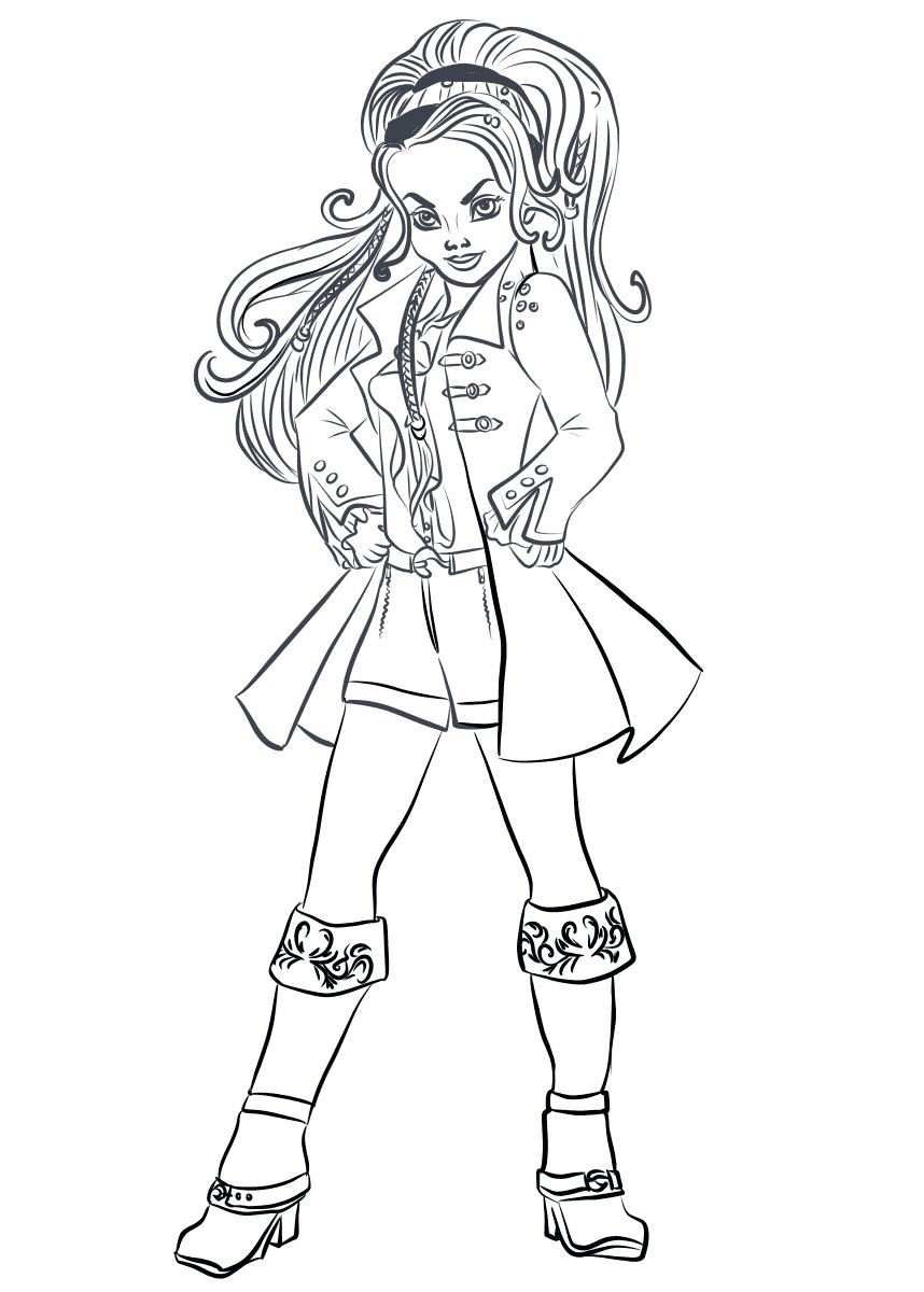 Descendant Coloring Pages Ideas With Superstar Casts Descendants Coloring Pages Coloring Pages To Print Coloring Pages
