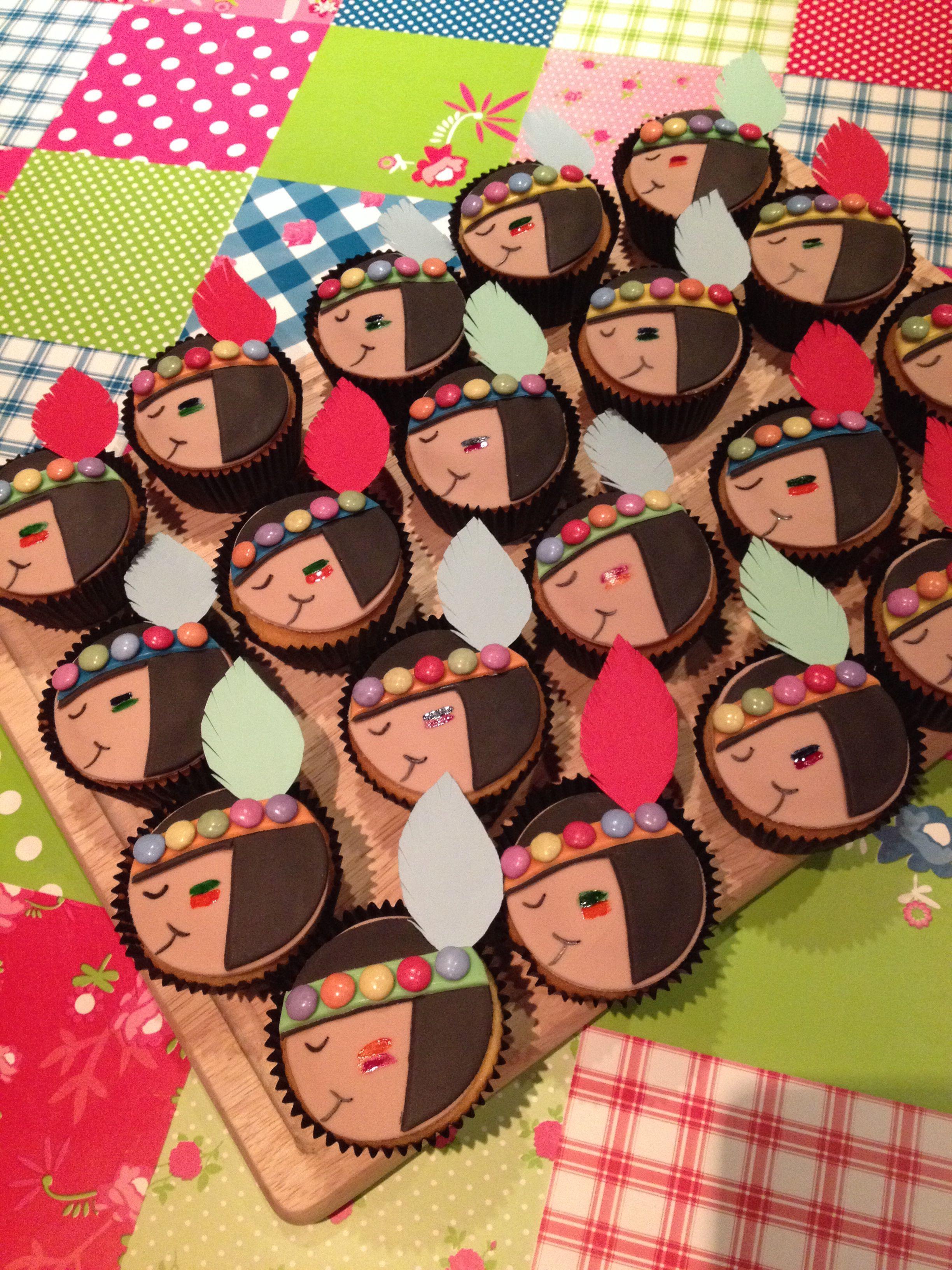Indianen cupcakes   Traktaties - Traktaties ...