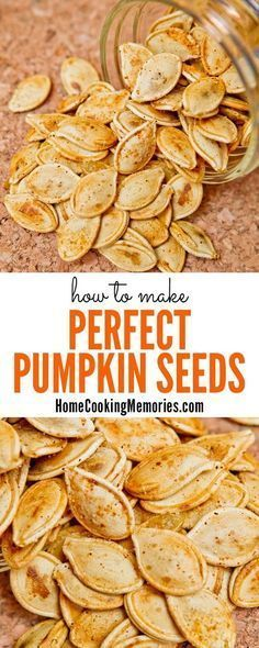 Seeds Don't throw those pumpkin seeds away after carving your Halloween jack-o-lantern! Roast perfect pumpkin seeds! This post shares how you can make a deliciously healthy batch of this salty and crunchy snack.Don't throw those pumpkin seeds away after carving your Halloween jack-o-lantern! Roast perfect pumpkin seeds! This post shares how yo...P