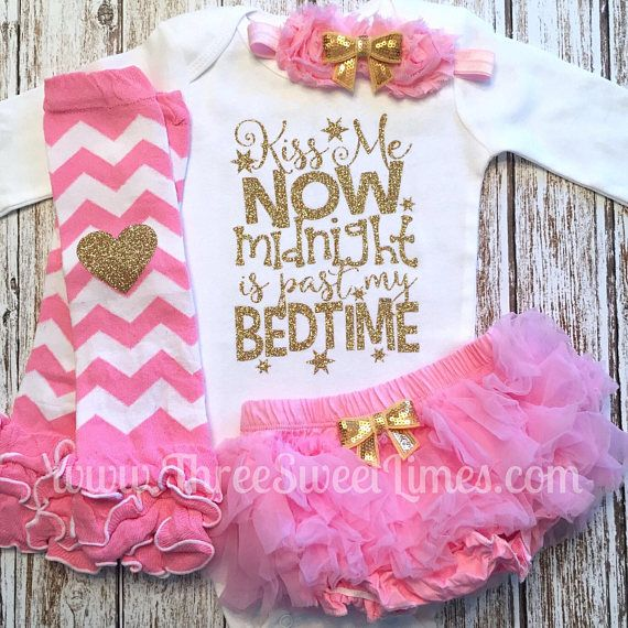 a2fb9c1de8b4 New Year s Eve Baby Girl Outfit Kiss Me Now Midnight Is Past My ...