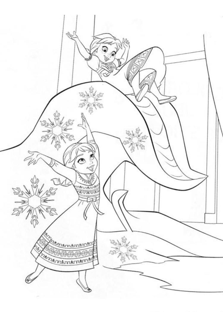 Coloring Page Sister Of Frozen | Frozen coloring pages