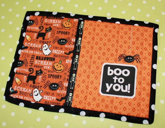 Boo to You Halloween Quilted Mug Rug Coaster by sewmuch2luv, $12.50