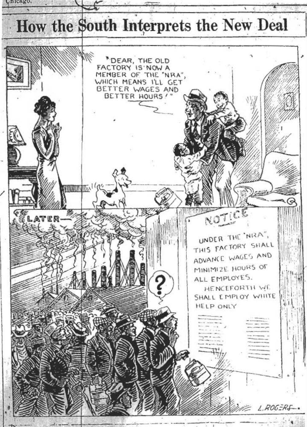 the new deal was suppose to help citizens financially the bottom the new deal was suppose to help citizens financially the bottom of the cartoon says