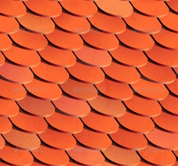 Seamless Roof Tiles Vector Background Architecture Background Vector Background Roof Tiles