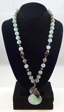 Vintage Sterling Silver Peruvian Opal Hematite Bead Necklace w/Earrings * E090