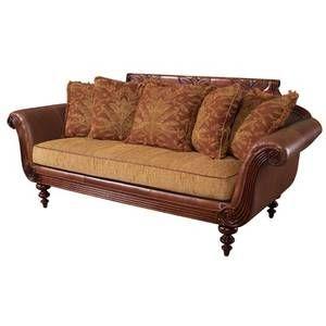 Tommy Bahama Home Plantation Scatterback Leather Sofa