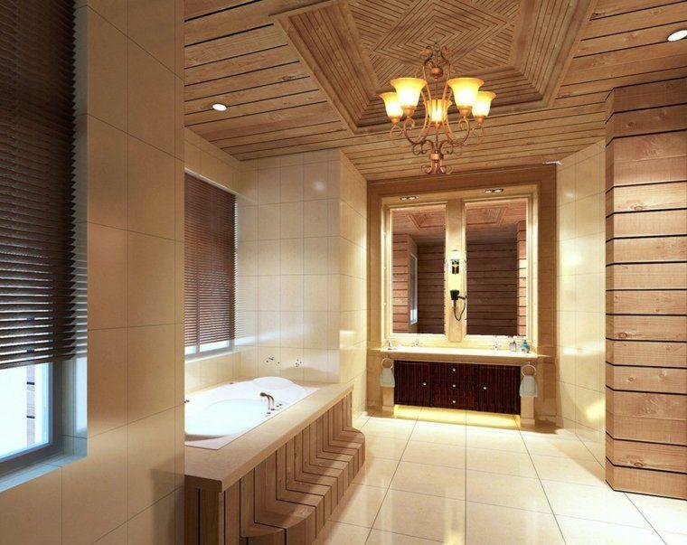 Plafond salle de bain  peinture et style en 40 idées - peindre plafond salle de bain