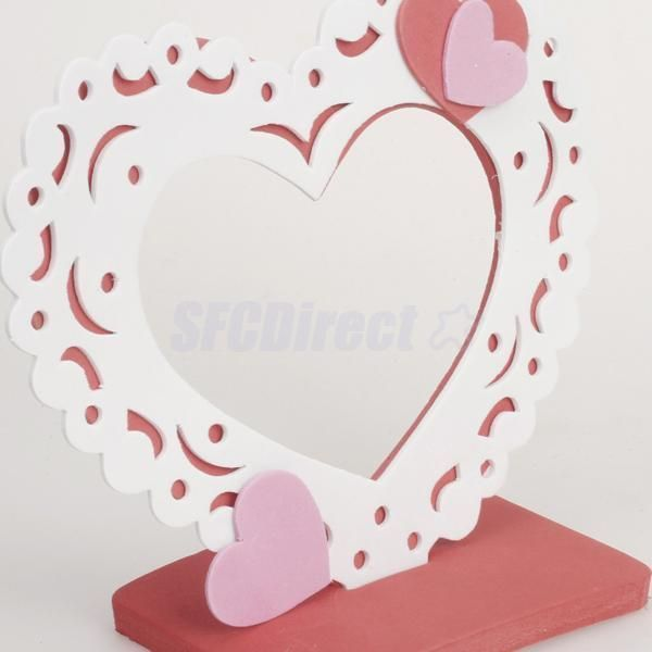 6X Romantic Love Heart Eva Foam Diy Photo Frame Craft Kit Mirror ...