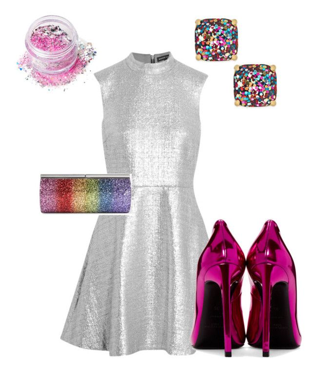 """""""Sparkles!"""" by lauren129986 on Polyvore featuring Markus Lupfer, Yves Saint Laurent, Kate Spade, Jimmy Choo and In Your Dreams"""