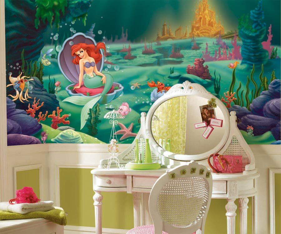 JL1224MLittle Mermaid Room 1 Kids Bedroom Bedroom Decor Theme