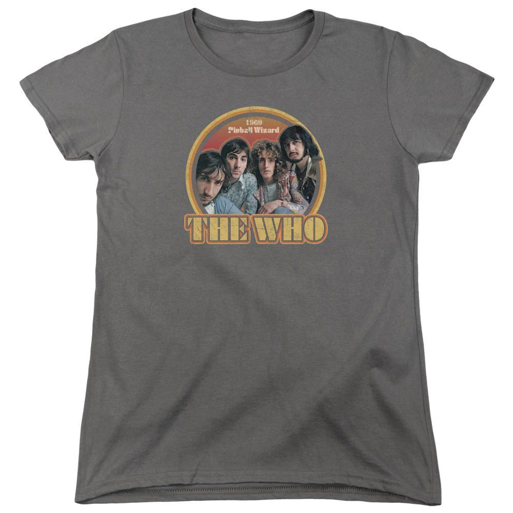 The Who 1969 Pinball Wizard Charcoal Womens T-Shirt