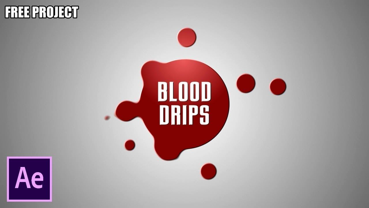 After Effects Tutorial: Blood Drips - No Plugin (Free