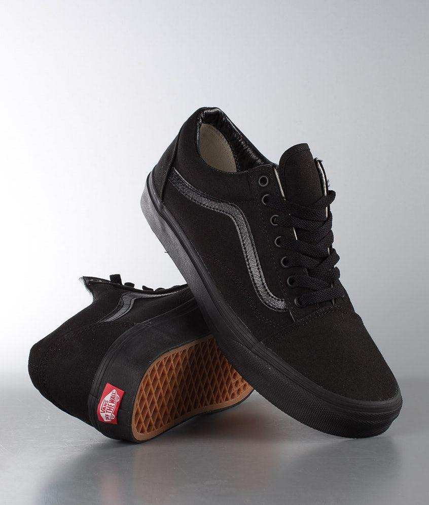 Vans Old Skool Chaussures Black/Black | Ridestore.com | Chaussures ...