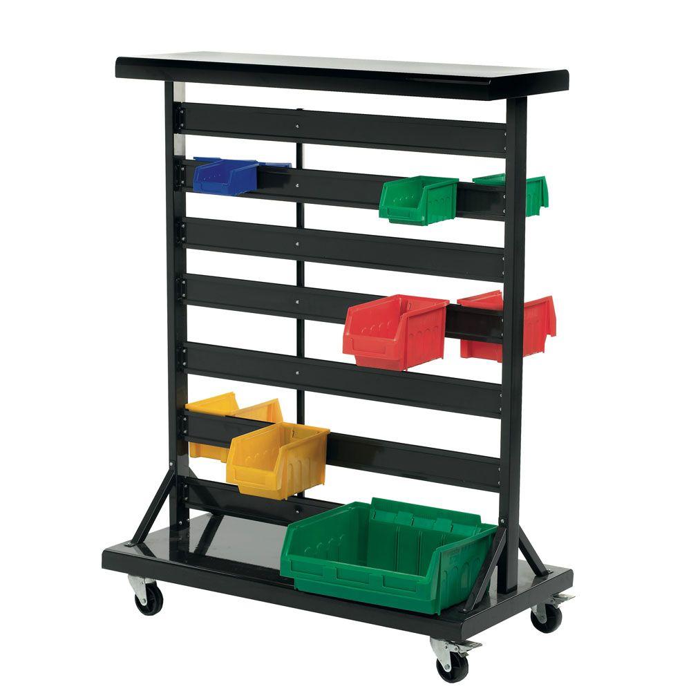 Bin Stand / Trolley Storage design, Plastic bins