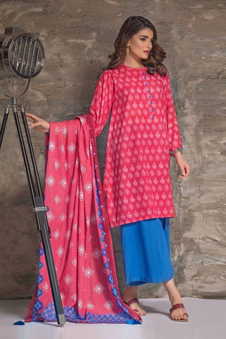 Unstitched 3 Piece Pakistani Designer Wear Khaddar Dresses On Sale ...