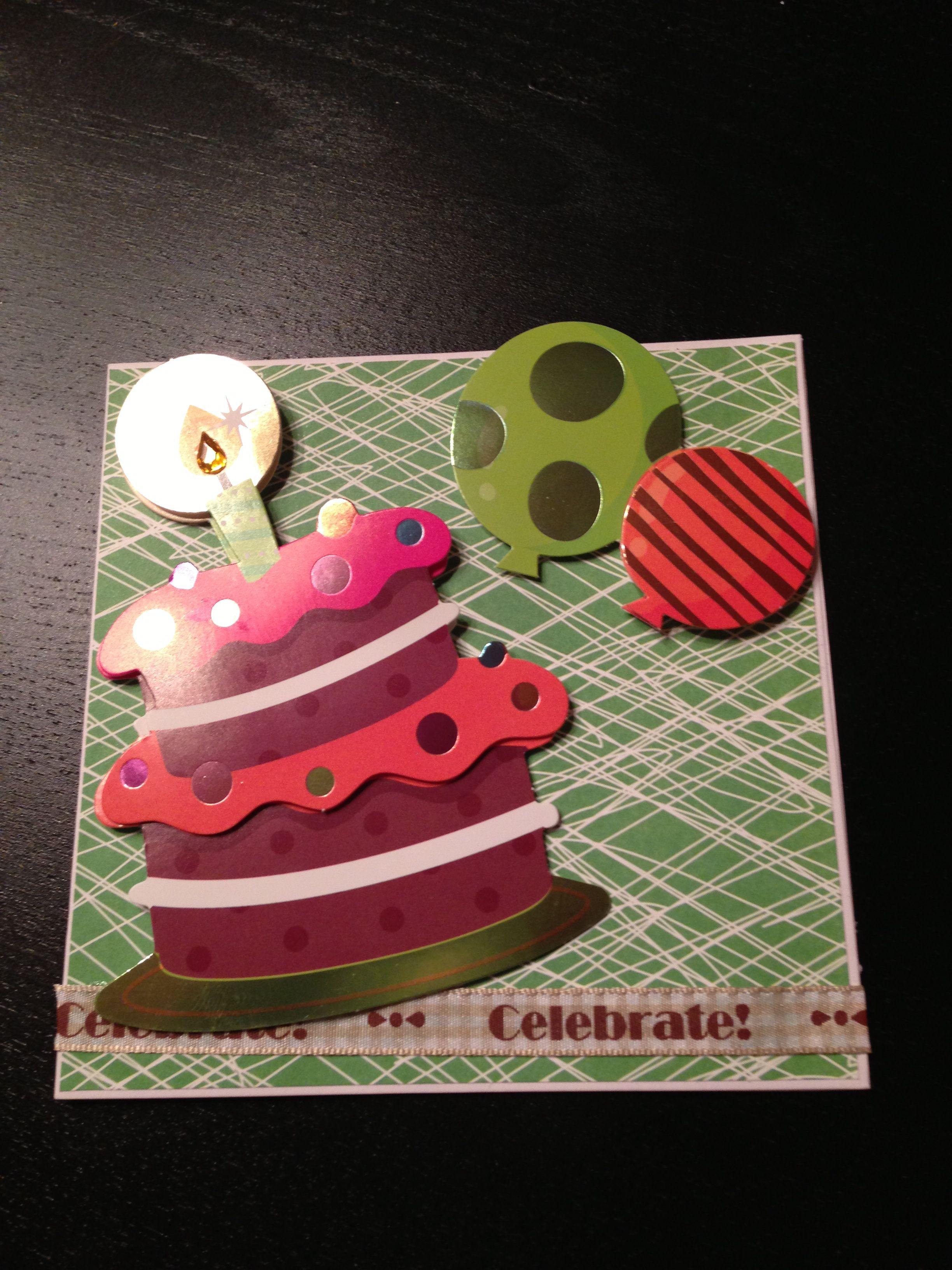 Happy birthday handmade greeting card by sweetest handz cards