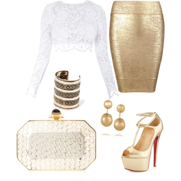 Untitled #193 by mazzo-sofia on Polyvore featuring polyvore fashion style Stone_Cold_Fox Posh Girl Christian Louboutin Judith Leiber Kenneth Jay Lane MANGO