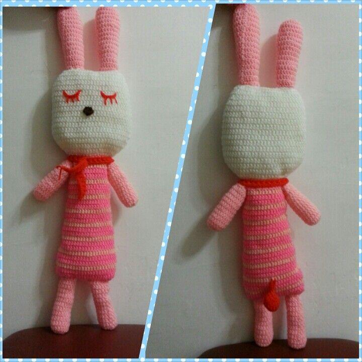 My crochet pink bunny