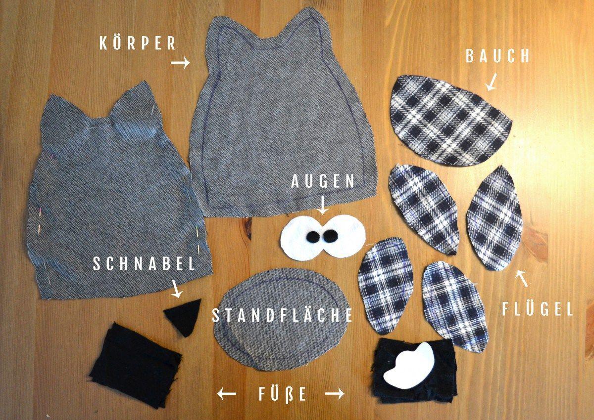 Türstopper Eule Einzelteile Nähen Pinterest Sewing Embroidery
