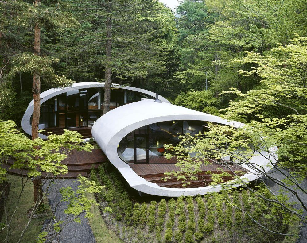 The famous shell house by Kataro Ide.  in Karuizawa, Nagano