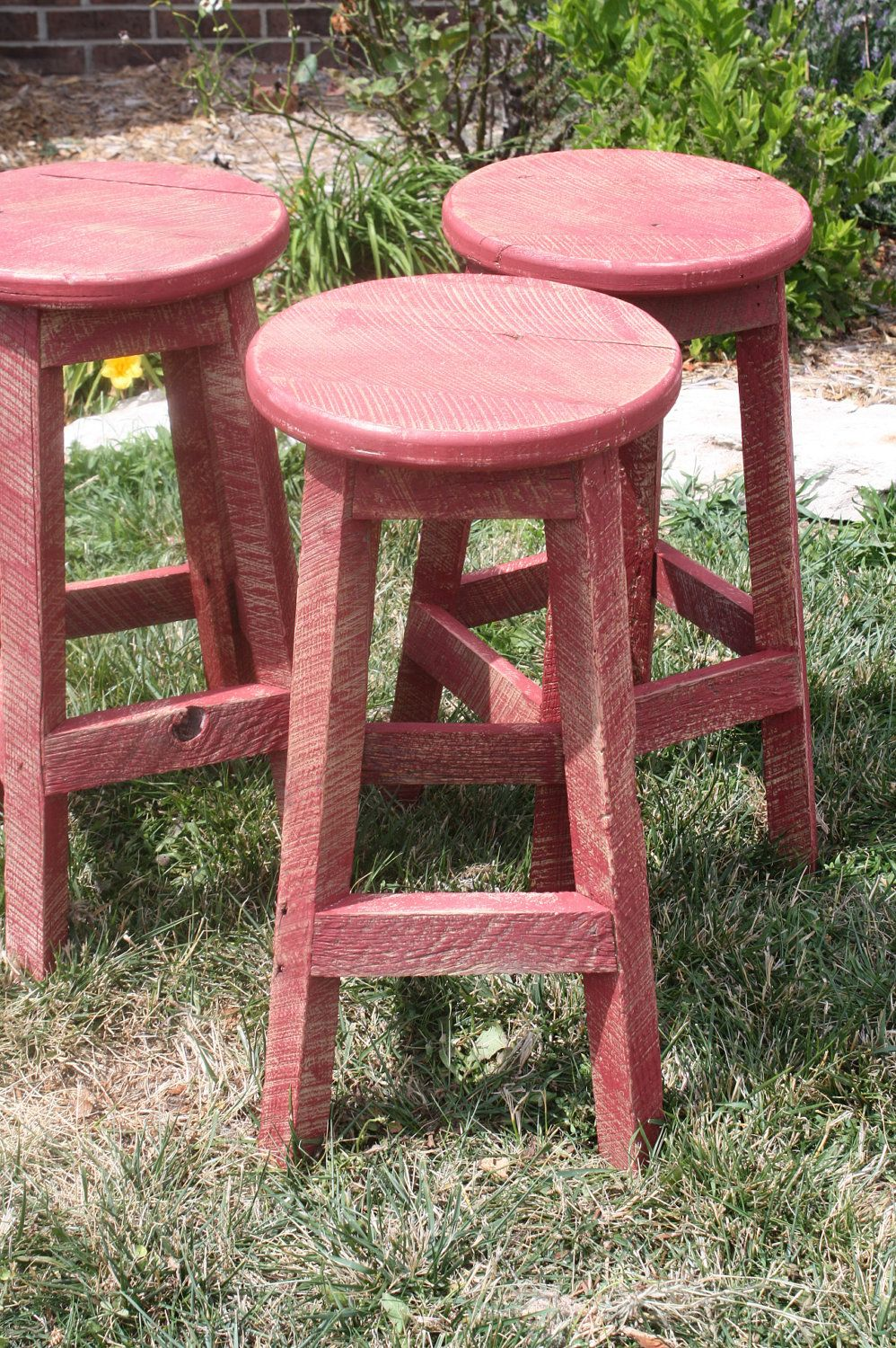 Your Custom Red Reclaimed Painted Rustic And Recycled 24