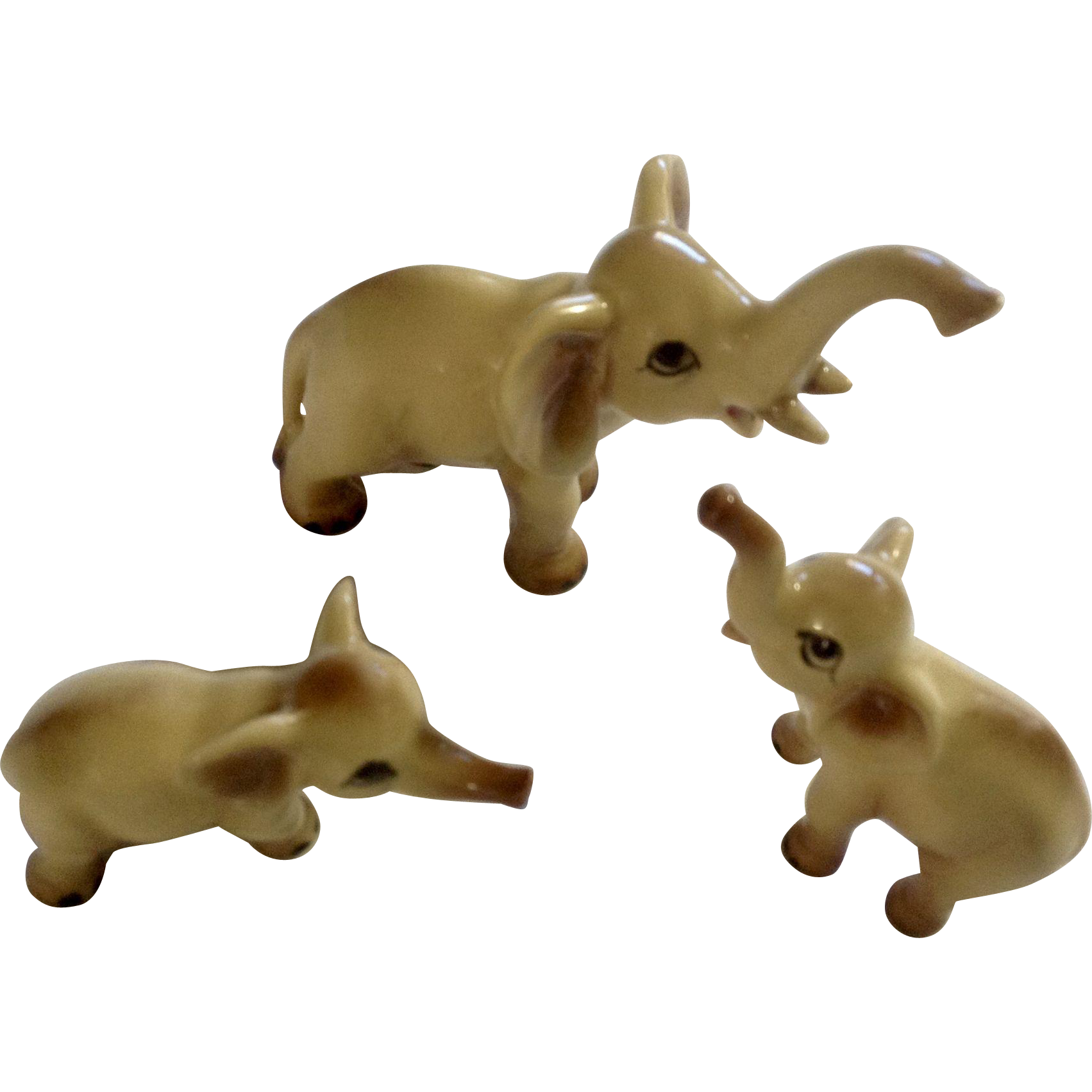 Elephant Fine Bone China Miniatures Vintage Ceramic Animal