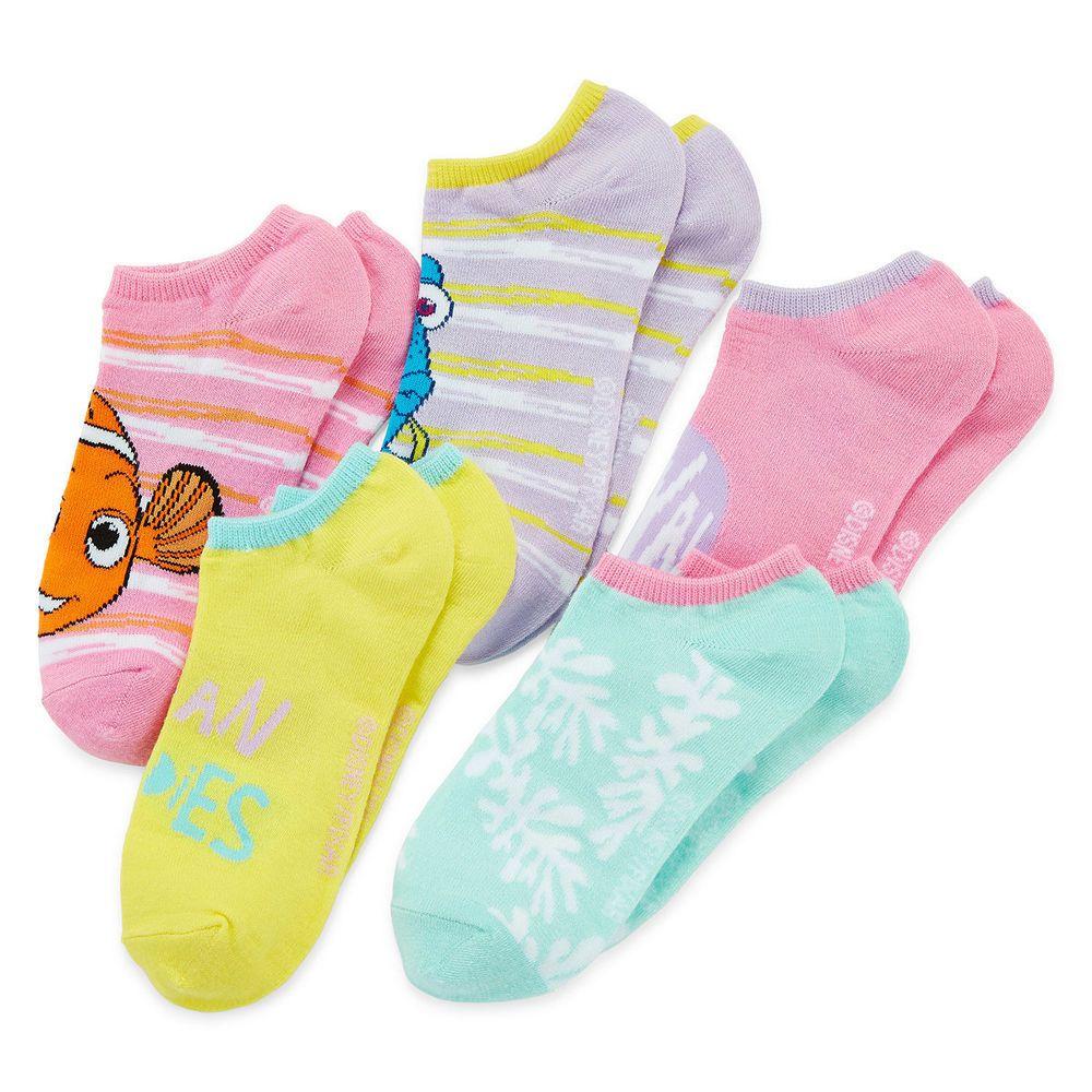 Disney Finding Nemo 5-pk No-Show Socks Multi Colors Girls Fits size 10.5-3.5 NEW  9.99 free us shipping http://www.ebay.com/itm/-/332167589037?