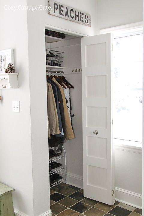 Shoe Rack On Bottom Front Hall Closet Entryway Room Doors
