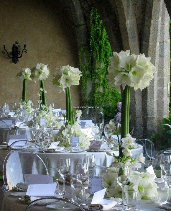 Centrotavola ammarillis centrotavola pinterest - Composizioni floreali per tavoli ...
