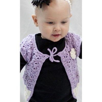 Cascade Yarns DK295 Baby Blossom Cap Sleeve Cardi (Free) at WEBS   Yarn.com