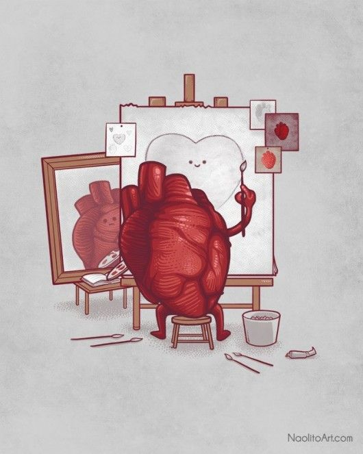 The heart sees what the heart wants to see.. so true!