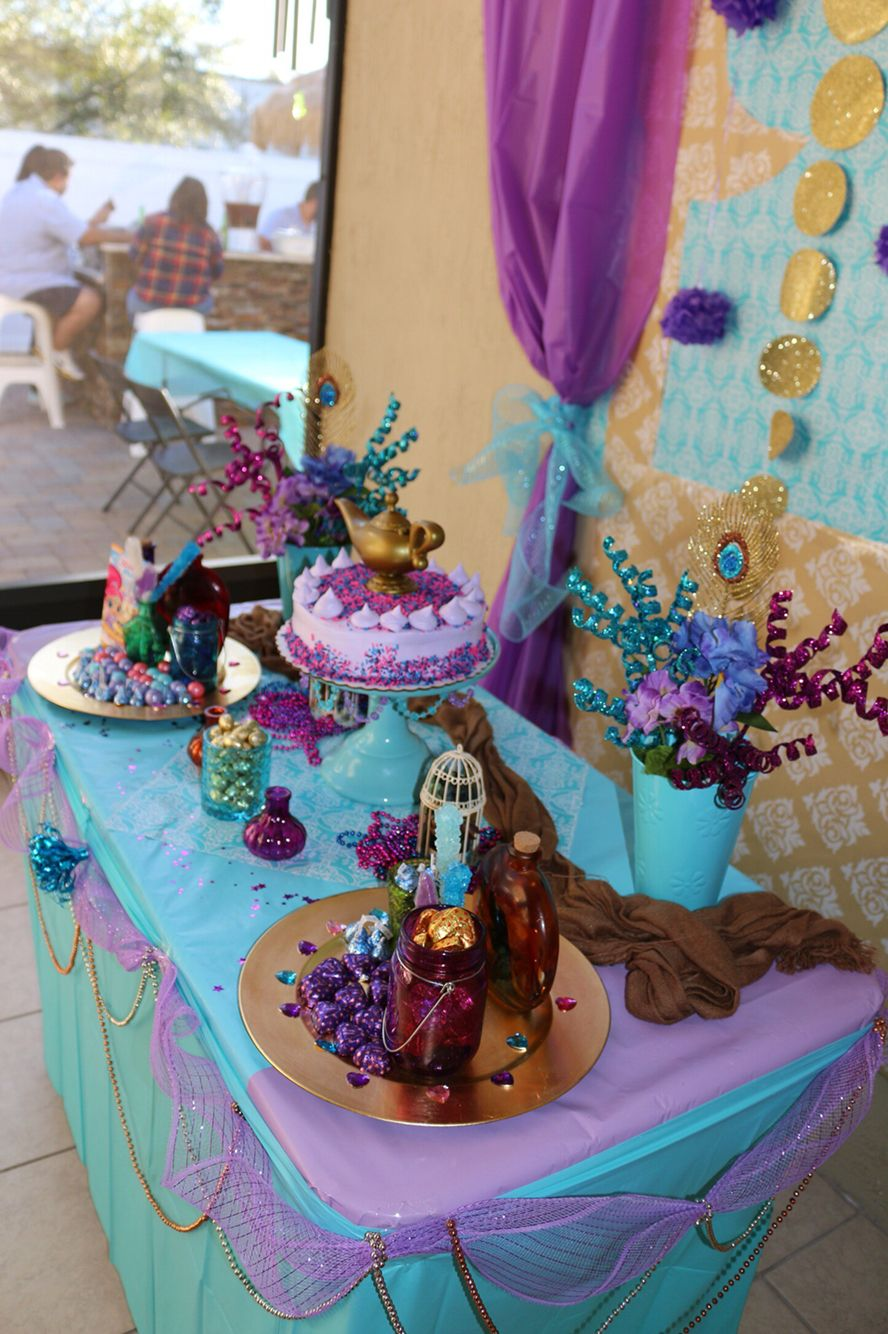 Shimmer And Shine Table Noogie Birthday Ideas Pinterest