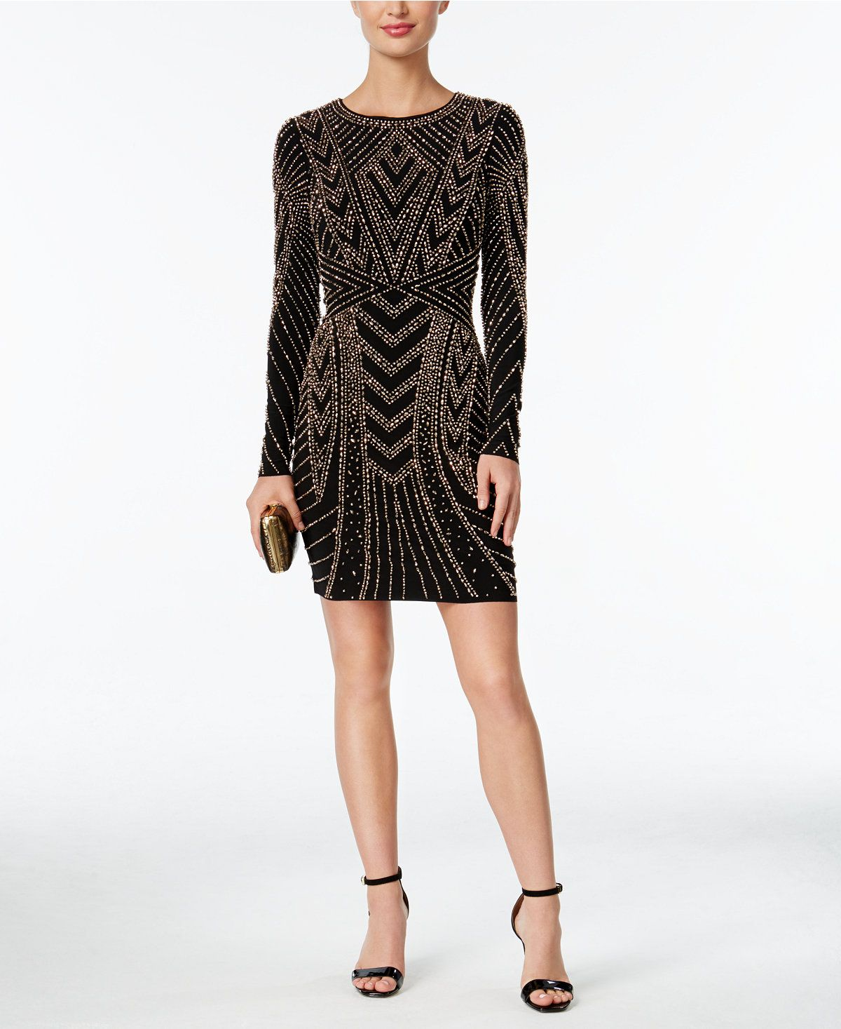 Xscape beaded bodycon dress bodycon dress and beads