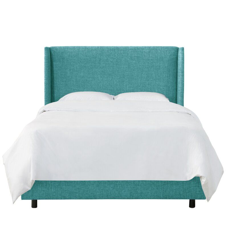 Alrai Upholstered Standard Bed Upholstered Panel Bed Wingback Bed Panel Bed