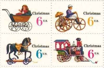 Christmas Variety Issue Set Of 4 X 6 Cent US Postage Stamps NEW Scot 1415 18 470