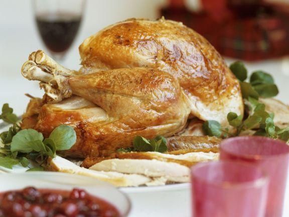Photo of Roast turkey with cranberry sauce