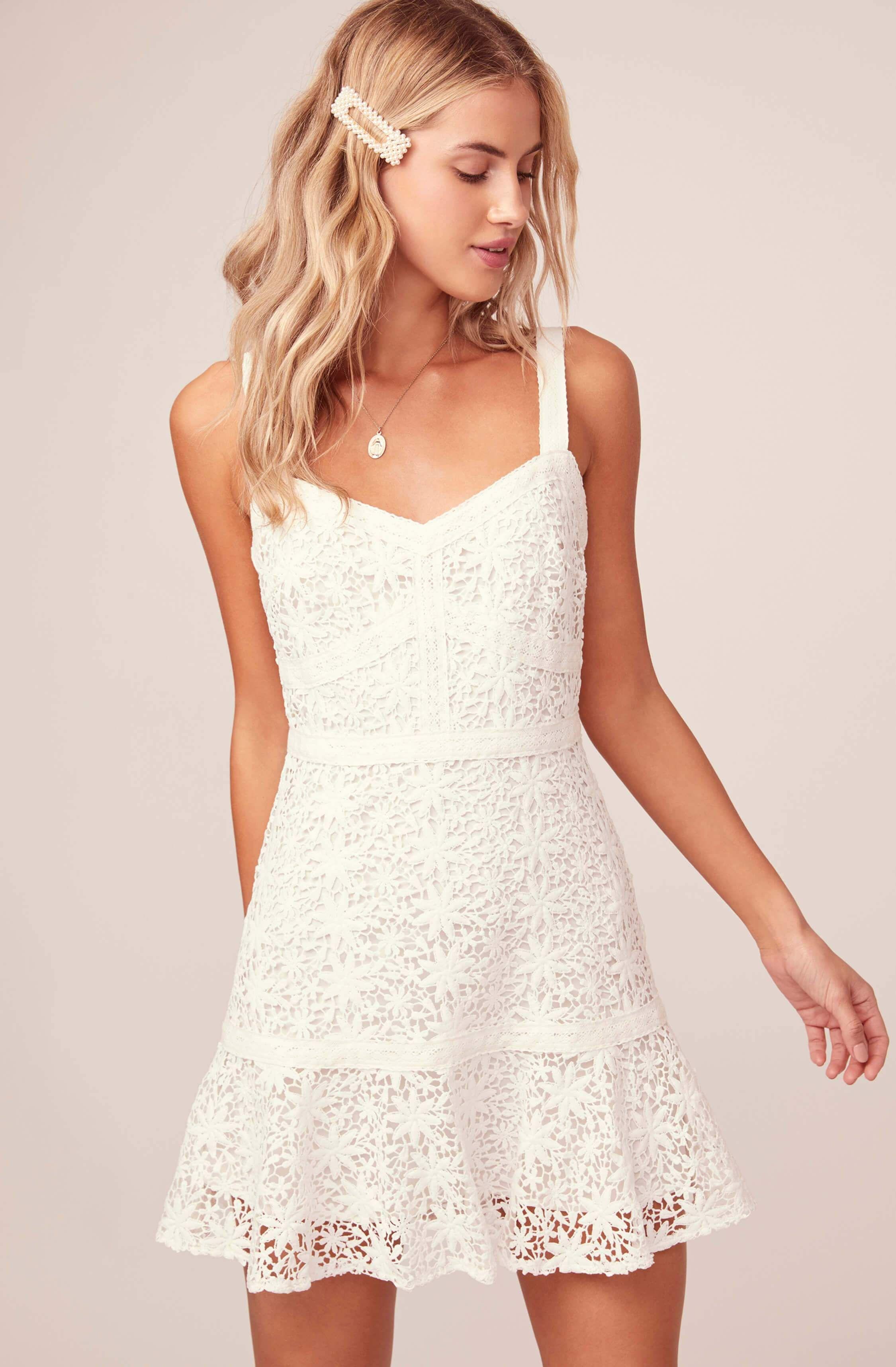 Carissa Lace Mini Dress White Lace Mini Dress Mini Dresses Summer White Short Dress [ 3432 x 2250 Pixel ]