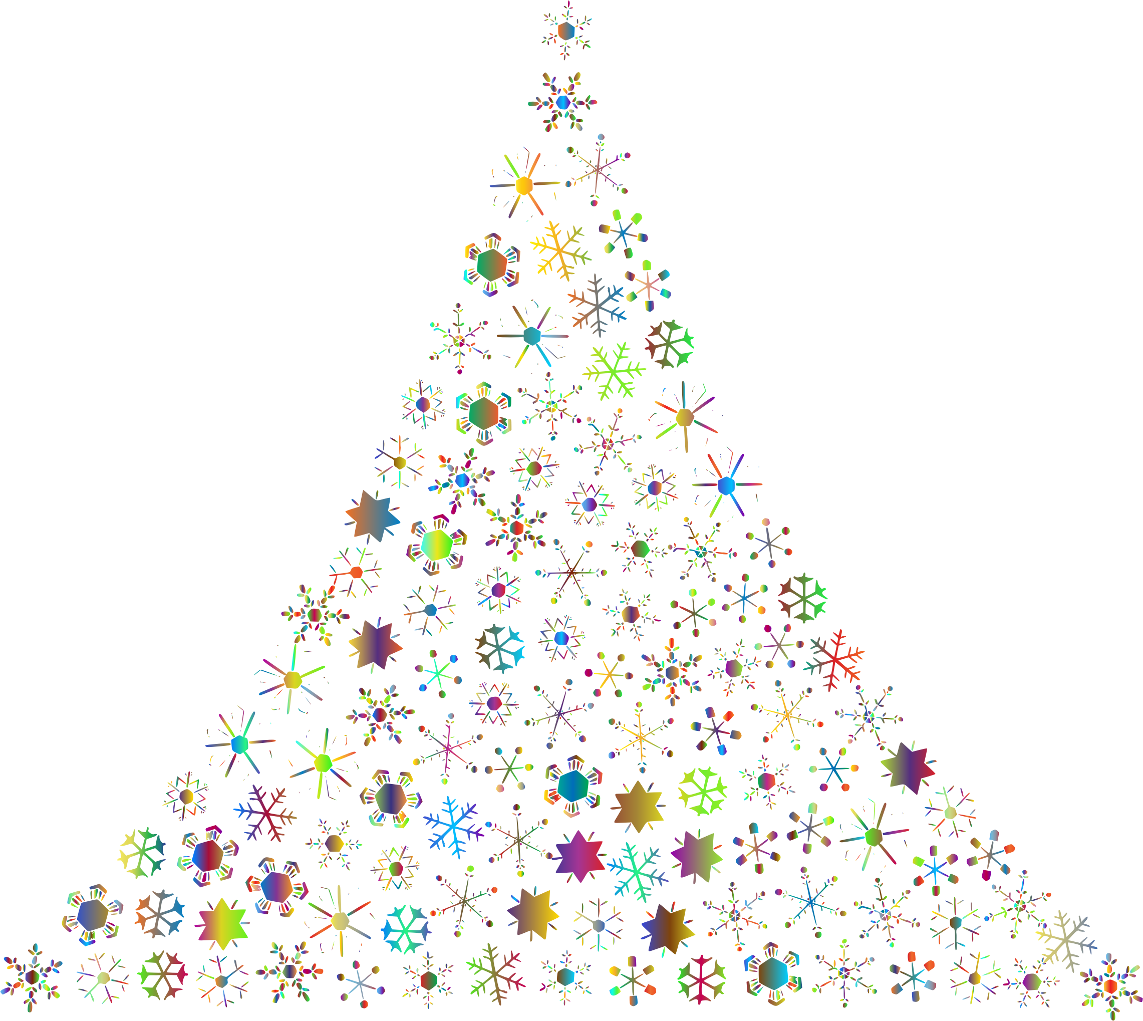 Prismatic Snowflake Christmas Tree 2 No Background By Gdj Whimsical Christmas Art Tree Cartoon Images Christmas Art A green christmas tree with sparkling lights. prismatic snowflake christmas tree 2 no
