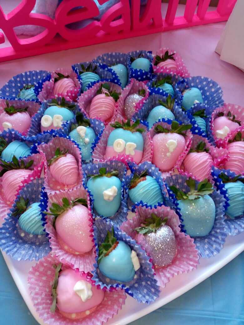 Chocolate Covered Strawberries Gender Reveal Party For My