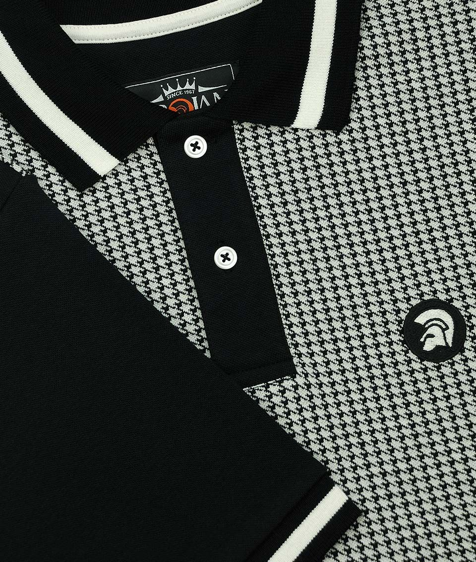 288c838be Trojan Records Black Houndstooth Polo Shirt in 2019 | เสื้อยืด ...