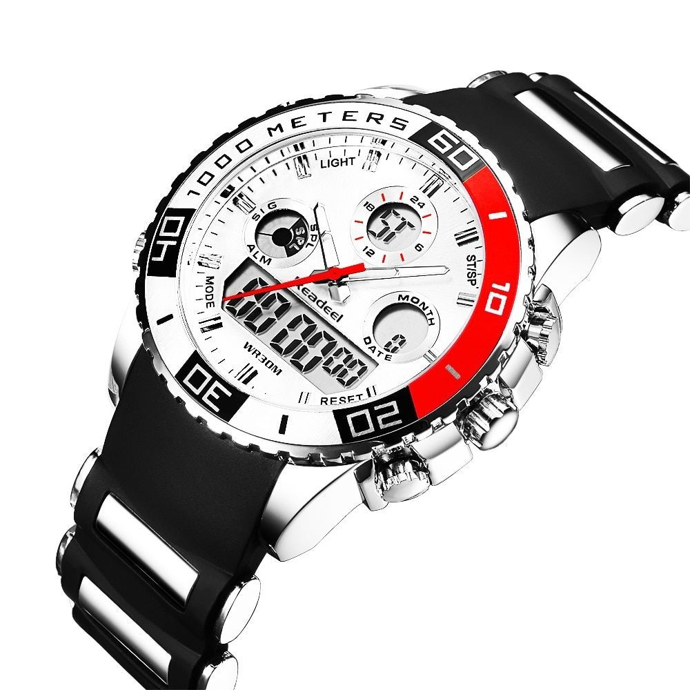 Stylish Sports Wristwatches for Men with Dual Dial Stylish Sports Wristwatches for Men with Dual Dial