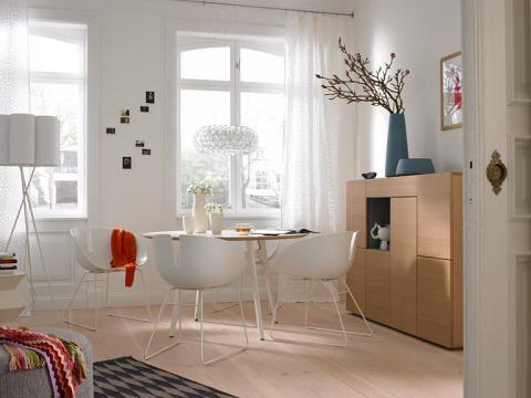 vorher nachher kombi raum zum wohnen essen schlafen sch ner wohnen wohnen pinterest. Black Bedroom Furniture Sets. Home Design Ideas