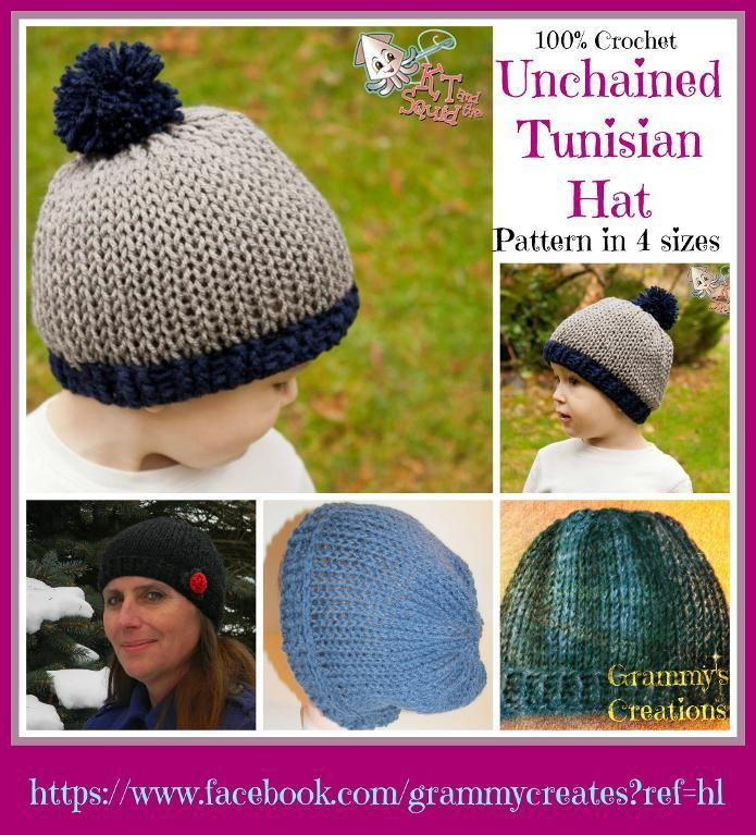 Unchained Tunisian Hat | Tunisian crochet, Crochet and Tunisian ...