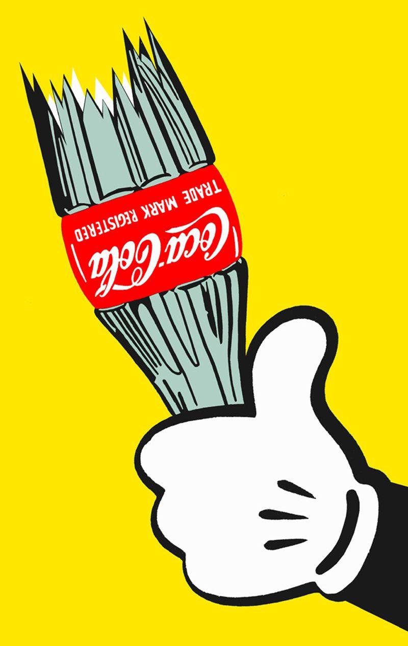 pop art coca cola mickey mouse iphone case